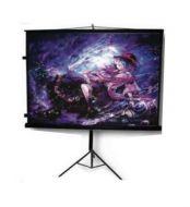 MST-152 Pantalla de Proyección Multimedia Screen Mst-152 84  Diagonal 1.52x1.52m Tripie Portatil